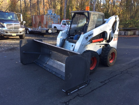 Hotfoil-EHS Snow Pusher on Bobcat